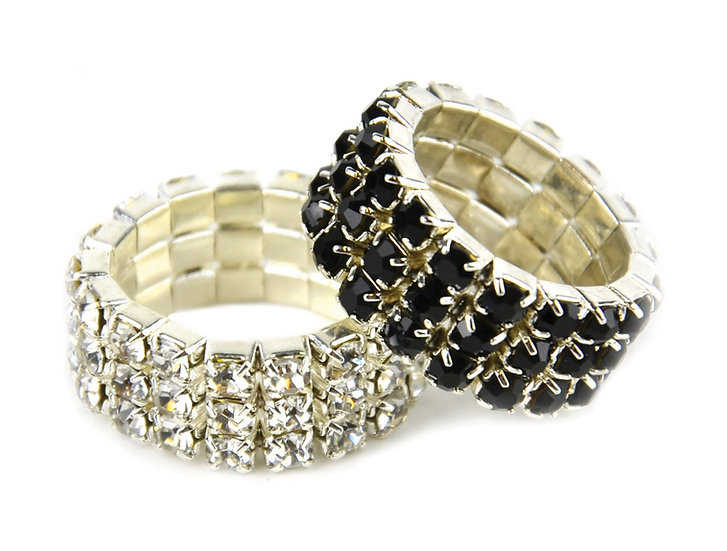 Lincoln Diamante Plaiting Bands - 5 in a set