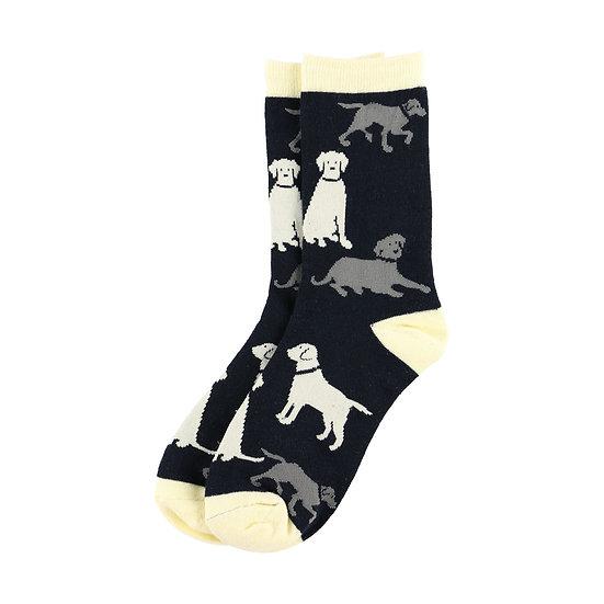 LazyOne Labradors Adult Crew Socks(Adult 5 - 7)