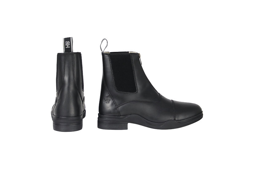 HyLAND Fleece Lined Wax Leather Zip Jodhpur Boot