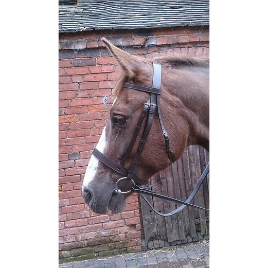 Classic Hunt Bridle with Rubber Grip Reins