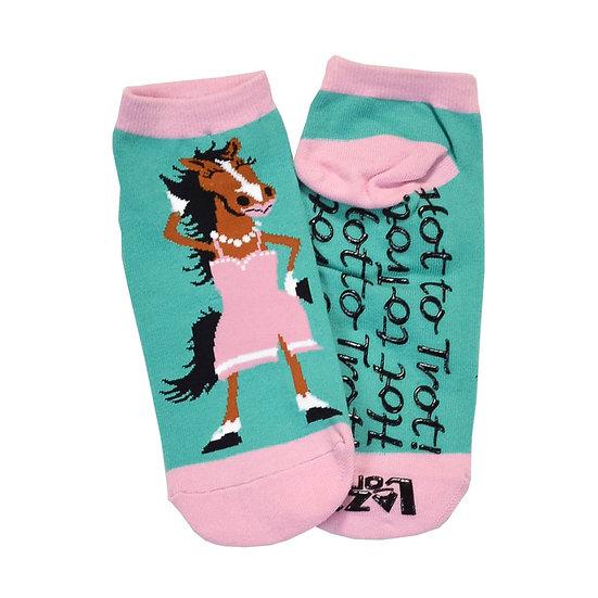 LazyOne Adult Slipper Sock HOT TO TROT