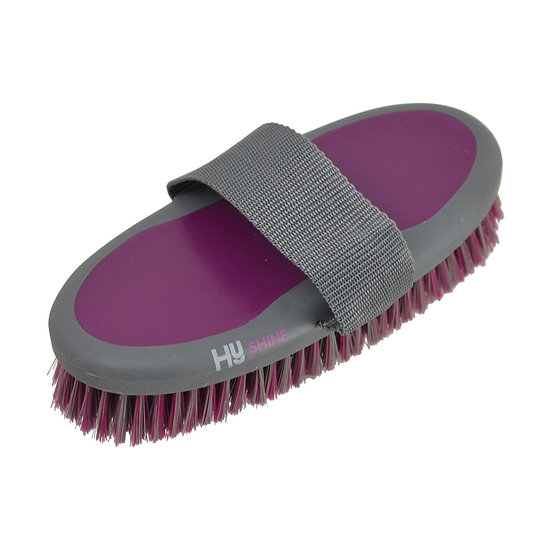 HY Shine Active Groom Body Brush - Port Royal or Royal Blue