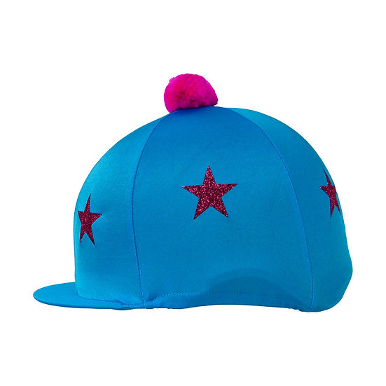 HyFASHION Pom Pom Hat Cover with Glitter Star Pattern
