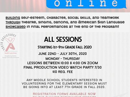 Summer Enrichment Online 2020 Flyer