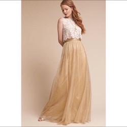 Jenny Yoo Tulle Gold Skirt 2