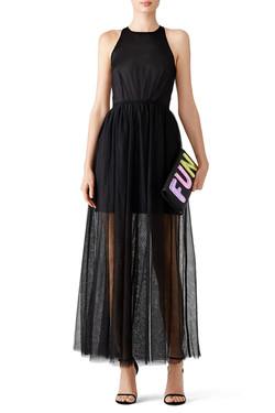 Line + Dot Black Tulle Dress 2
