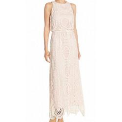 Eliza J Crochet Dress Light Pink