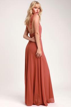 Lulus Meteoric Rise Maxi Dress Rust