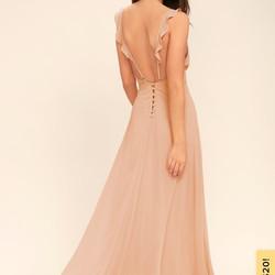 Lulus Meteoric Rise Maxi Dress Blush 2