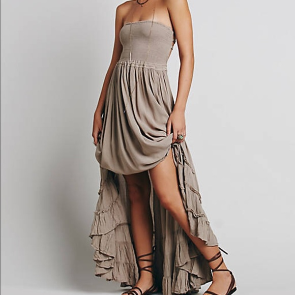 Free People Extratropical Dress Taupe