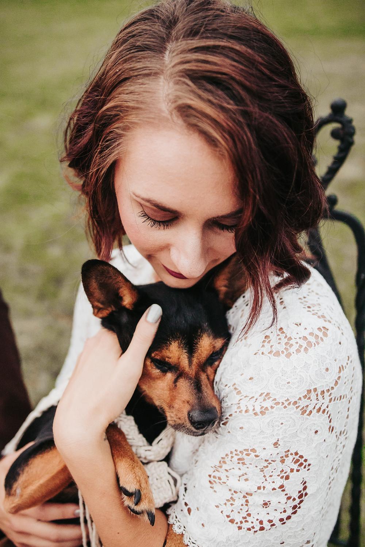 Palisade River Ranch dog friendly wedding venue Palisade Colorado bride and dog