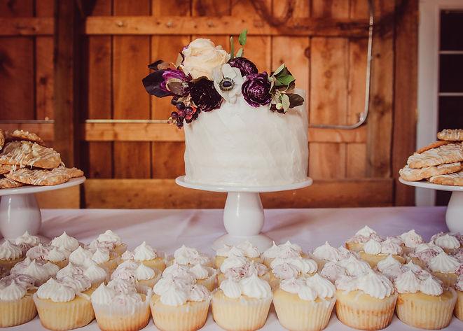 Wedding Dessert Bar Cake Sweet Kiwi Bakery Three Leaf Floral Palisade Colorado Maison la Belle Vie