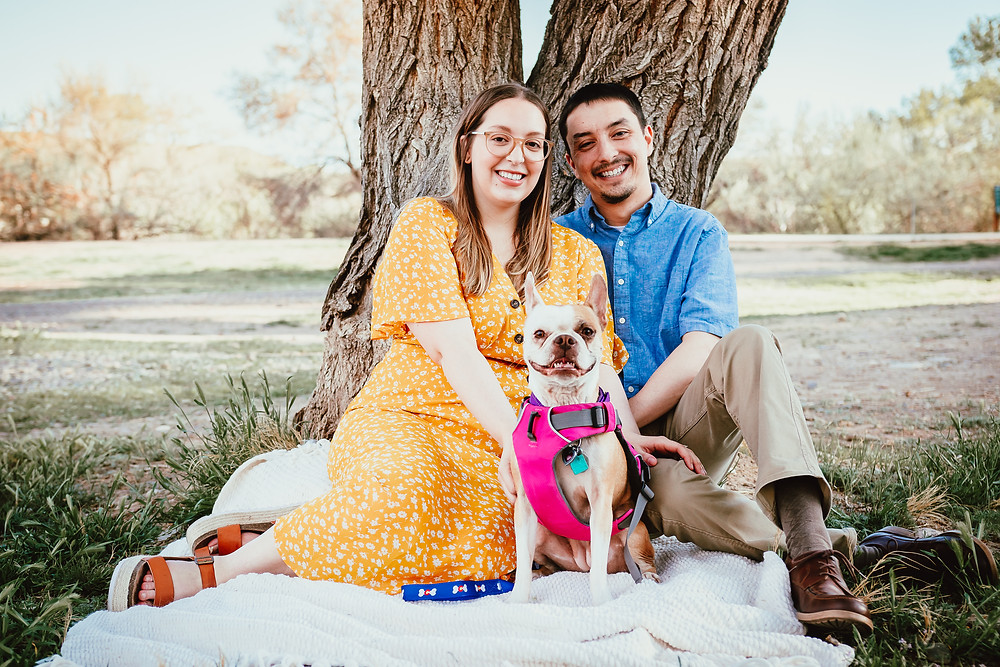 Palisade Colorado Engagement Photo with Dog