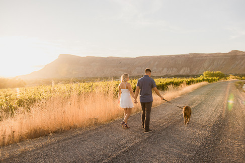 Palisade Colorado Orchard Vineyard Engagement