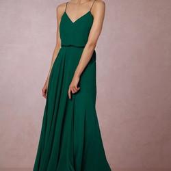 Jenny Yoo Inesse Emerald Dress 2