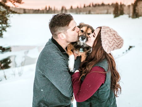 Shannon + Alex   Mesa Lakes Snowy Mountain Engagement