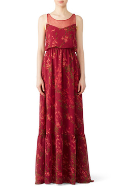Marchesa Notte Floral Wisteria Gown