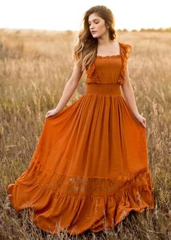 Joy Folie Dawn Spice Maxi Dress