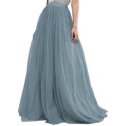 Full Tulle Skirt Dusty Blue