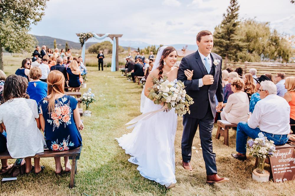 Rustic Country Cowboy Wedding Horses Montrose Colorado Antler Ridge