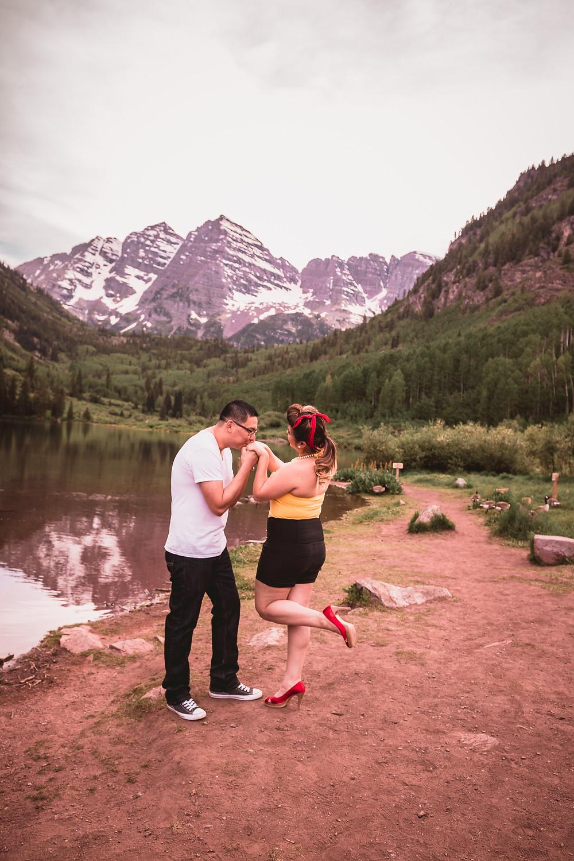 Aspen Engagement Photos Maroon Bells