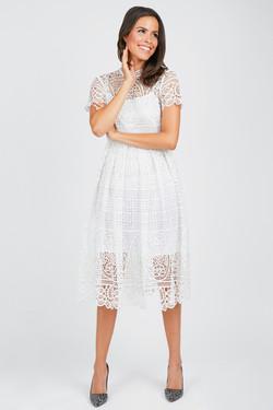 Olivia Culpo Medallion Lace Dress