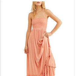 Free People Extratropical Maxi Dress Pea