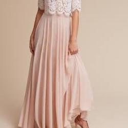 Jenny Yoo Hampton Pink Maxi Skirt