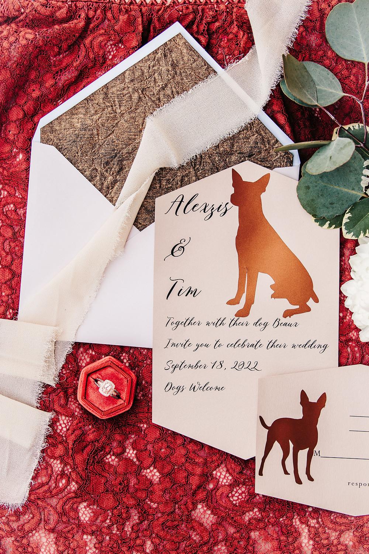Palisade River Ranch dog friendly wedding venue Palisade Colorado wedding invitation suite