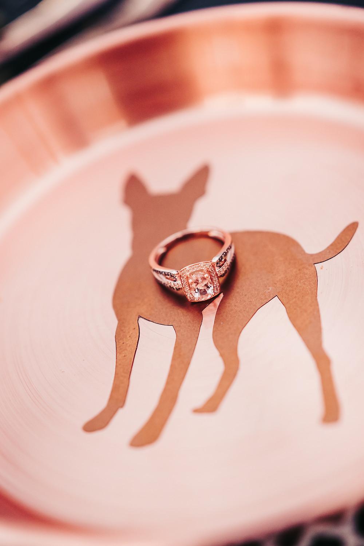Wedding ring dog dish dog friendly wedding accessories details