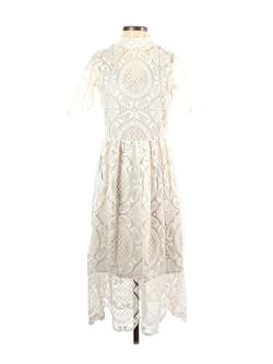 Mia Joy Midi Lace Cream Dress