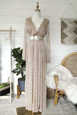 Shimmer & Sparkle Blush Maxi Dress