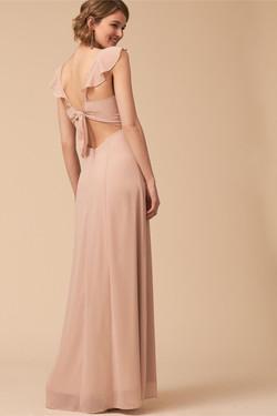 BHLDN Diana Nude Color Maxi Dress 2