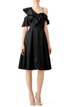 Slate & Willow Ruffle Me Black Dress 2