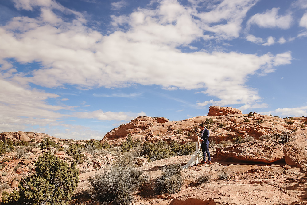 Moab Utah elopement wedding couple Colorado photographer adventure