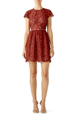 Stylesalker Rust Lace Dress