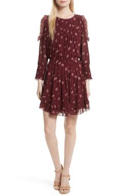 Joie Arleth Dress Ruffle Cold Shoulder