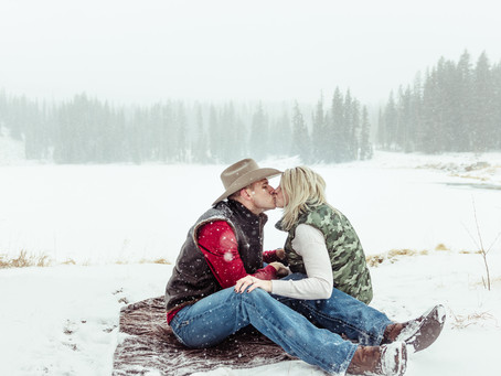 Stacey + Justin   Grand Junction Engagement Mesa Lakes