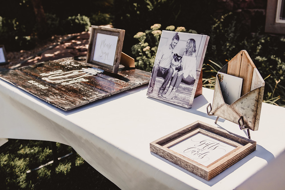 Guest table welcome table wedding canvas print engagement photo