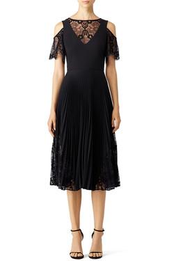 Nicole Miller Black Scallop Dress 2