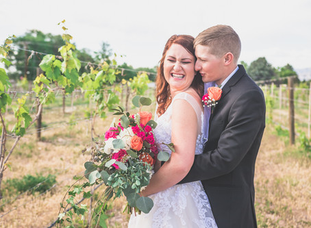 Shaley + Tyler | Grand Junction Wedding Photography Colorful Wine Country Wedding