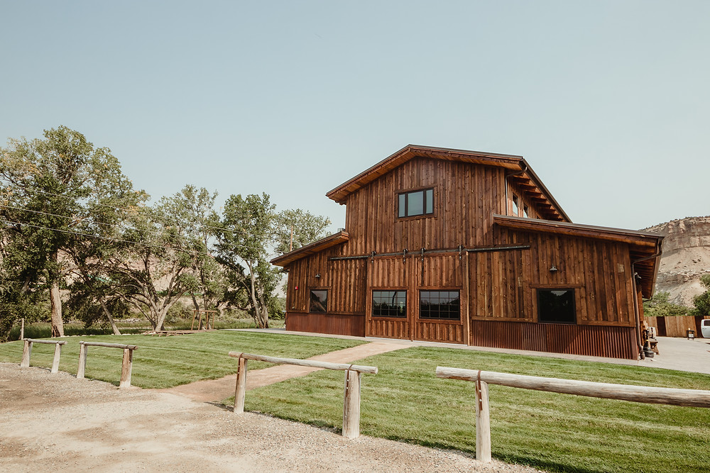 Orchard River View Palisade Colorado barn wedding venue