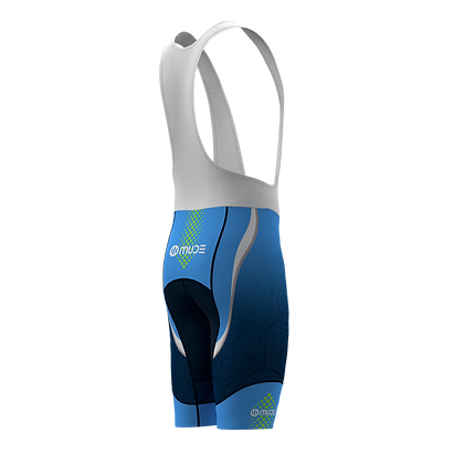 Male Cycling BIB Shorts BCN Tiles Blue