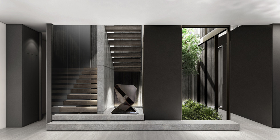 b/w residence