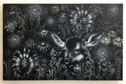 Black Meadow with Fawn, 2018