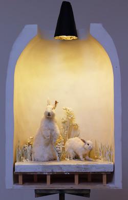 Alaskan Diorama (Two Rabbits), 2015