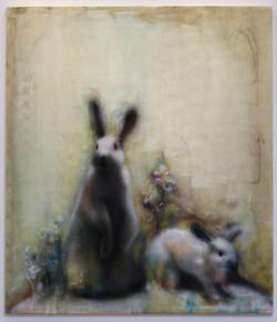 Two Rabbits (After Alaskan Diorama), 2015