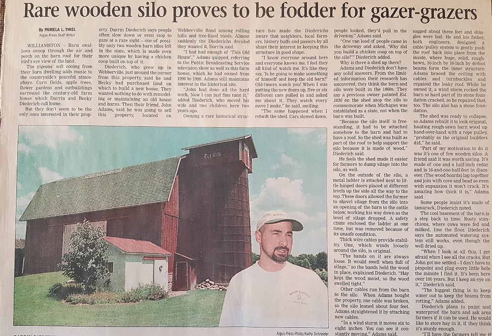 Rare Wooden Silo proves to be fodder for gazer-grazers