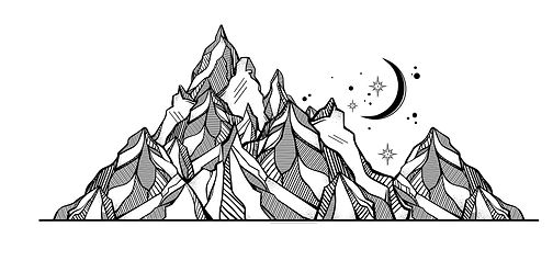 Mountain / Moon / Stars
