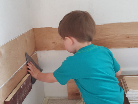 Farmhouse Boy's Room: Shiplap Up!